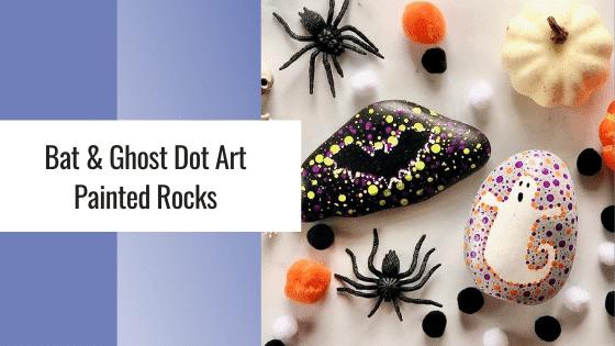 halloween dot art painted rocks