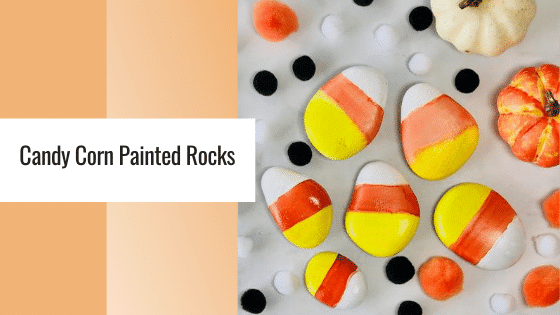 candy corn painted rocks