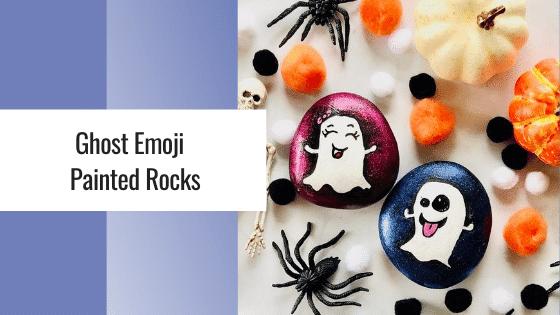 ghost emoji painted rocks